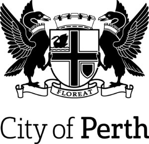 City of Perth logo Stacked_MONO